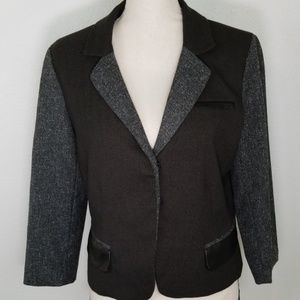 NY COLLECTION Gray Career Dress Jacket, size S